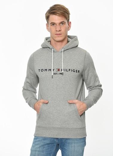 Tommy Hilfiger Kapüşonlu Sweatshirt Gri